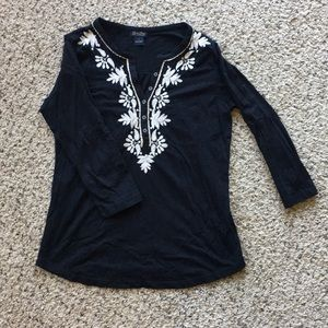 Long sleeve embroidered Lucky Brand shirt
